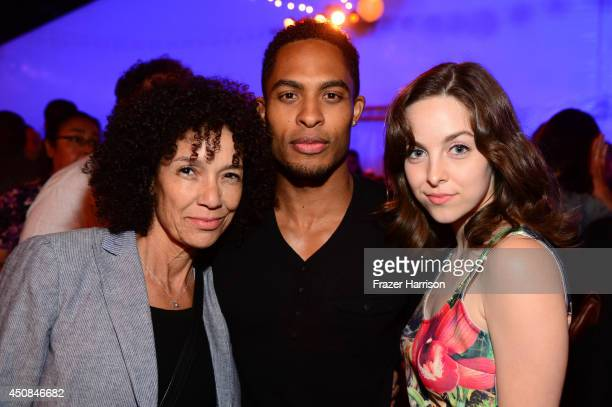Los Angeles Film Festival director Stephanie Allain and Actor Brandon P Bell and actress Brittany Curren attend the after party for the premiere of...