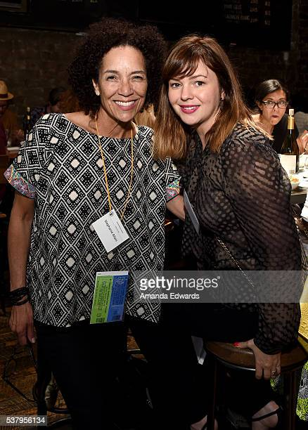 Los Angeles Film Festival director Stephanie Allain and filmmaker/actress Amber Tamblyn attend the DGA Luncheon during the 2016 Los Angeles Film...