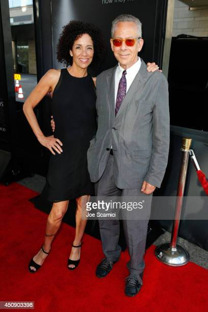 "Los Angeles Film Festival director Stephanie Allain and LAFF artistic director David Ansen attend the closing night film premiere of ""Jersey Boys""..."