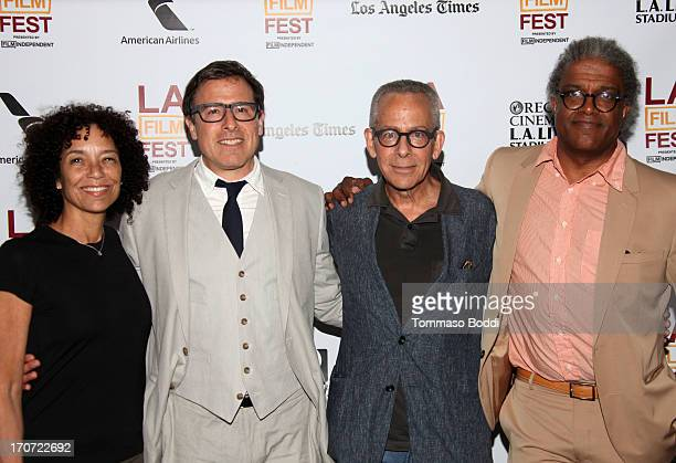Los Angeles Film Festival director Stephanie Allain, director David O. Russell, LAFF artistic director David Ansen and LAFF moderator Elvis Mitchell...
