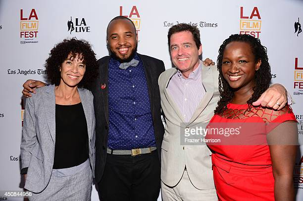 Los Angeles Film Festival director Stephanie Allain, filmmaker Justin Simien, Film Independent President Josh Welsh and producer Effie Brown attend...