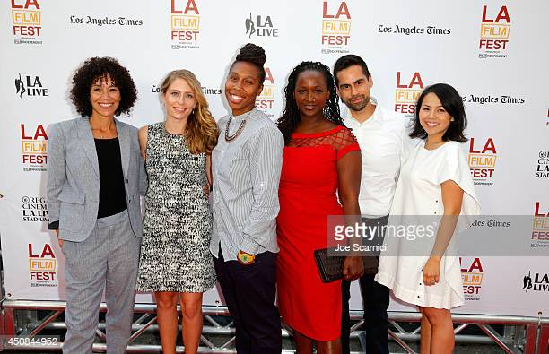 Los Angeles Film Festival director Stephanie Allain, Producer Julia Lebede, Producer Lena Waithe, Producer Effie Brown, Producer Angel Lopez and...