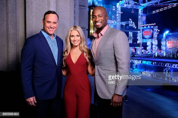 WARRIOR 'Los Angeles Finals' Pictured Matt Iseman Kristine Leahy Akbar Gbajabiamila