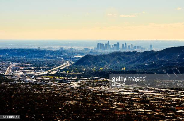 Los Angeles from above Burbank