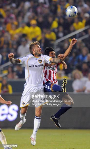 CARSON 11/08/09 Los Angeles Galaxy beat Chivas USA 10 to advance to the MLS Western Conference finals 2nd half David Beckham and Paulo Nagamura...