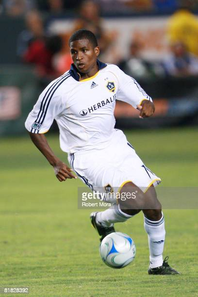 Los Angeles Galaxy forward Edson Buddle attacks the defense during their MLS game against the New England Revolution at Home Depot Center on July 4...