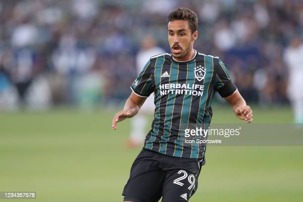 Los Angeles Galaxy forward Ethan Zubak attacks a loose ball during the game between the Portland Timbers and the LA Galaxy on Friday, July 30, 2021...