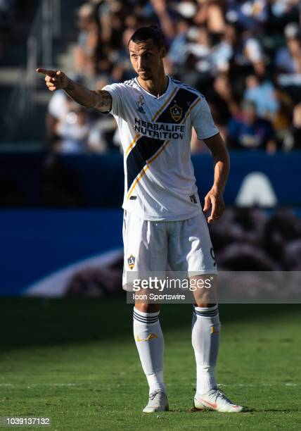 Los Angeles Galaxy forward Zlatan Ibrahimovic during the MLS regular season match between Los Angeles Galaxy and Seattle Sounders on September 23 at...