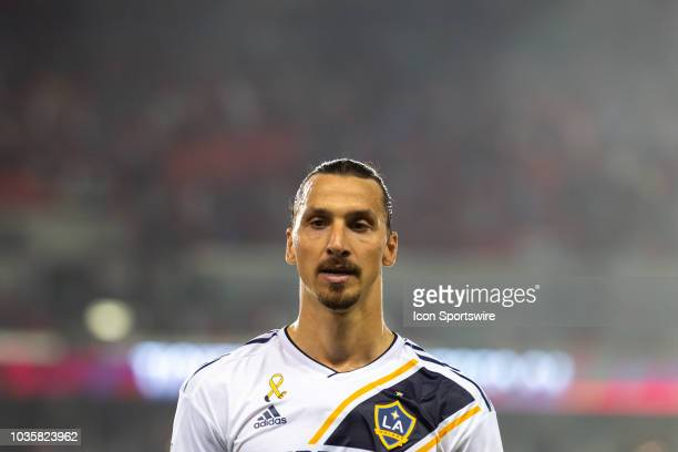 Los Angeles Galaxy forward Zlatan Ibrahimovic exits the filed after being defeated by Toronto FC on September 15 at BMO Field in Toronto ON Canada
