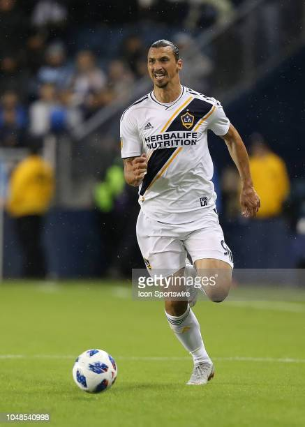 Los Angeles Galaxy forward Zlatan Ibrahimovic makes a run in the first half of an MLS match between the LA Galaxy and Sporting Kansas City on October...