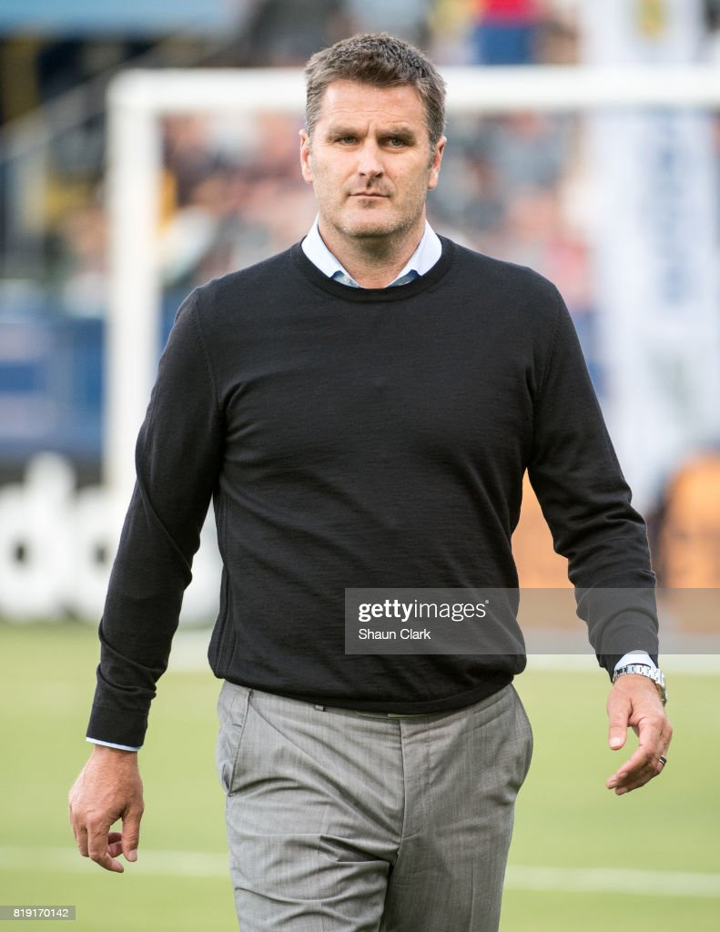Los Angeles Galaxy Head Coach Curt Onalfo prior to the Los Angeles Galaxy's MLS match against Vancouver Whitecaps at the StubHub Center on July 19, 2017 in Carson, California. Vancouver won the match 1-0