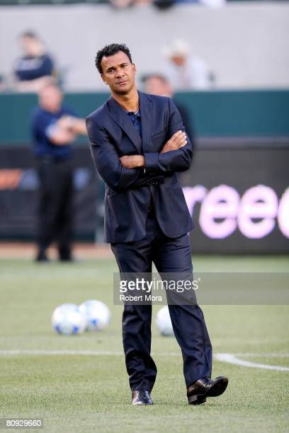 Los Angeles Galaxy Head Coach Ruud Gullit prior to the MLS match against Chivas USA at Home Depot Center on April 26 2008 in Carson California The...