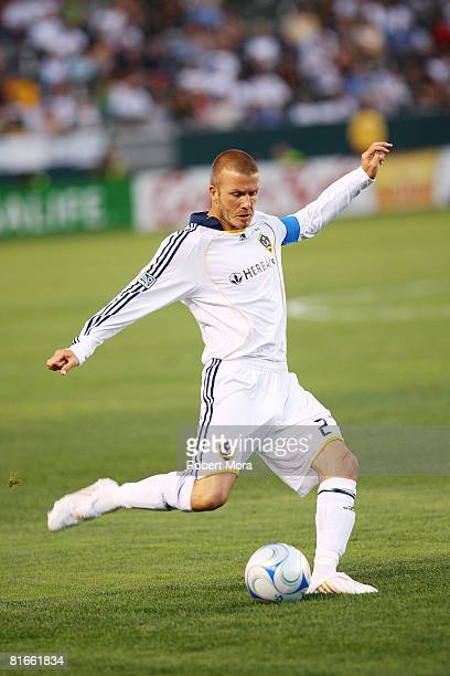 Los Angeles Galaxy Midfielder David Beckham attacks the defense during their MLS game against the Columbus Crew at Home Depot Center on June 21 2008...