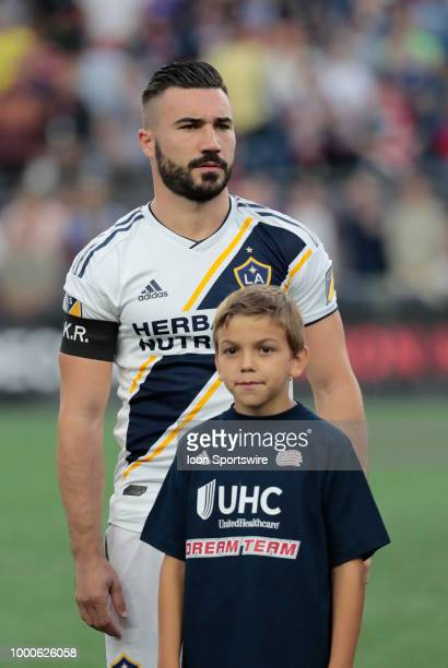 Los Angeles Galaxy midfielder Romain Alessandrini during a match between the New England Revolution and the Los Angeles Galaxy on July 14 at Gillette...