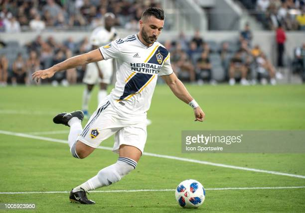 Los Angeles Galaxy midfielder Romain Alessandrini during a MLS match between the Los Angeles FC and the Los Angeles Galaxy July 26 2018 at Banc of...