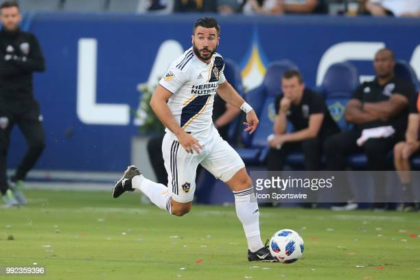 Los Angeles Galaxy midfielder Romain Alessandrini lads the attack while looking for a passing opportunity in the game between the DC United and the...