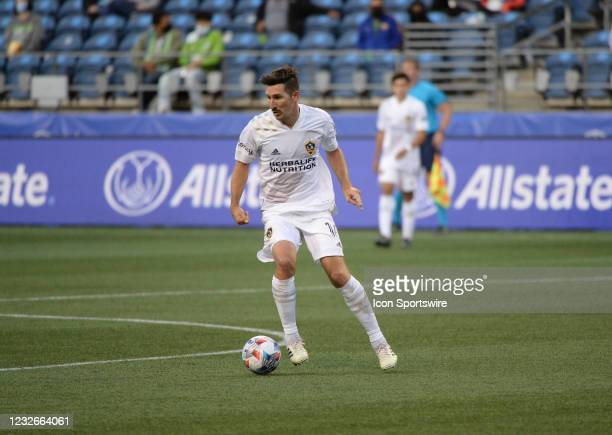 Los Angeles Galaxy midfielder Sacha Kljestan in action during an MLS match between the LA Galaxy and the Seattle Sounders on May 2, 2021 at Lumen...
