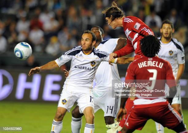 CARSON 11/14/10 Los Angeles Galaxy vs FC Dallas in the MLS Western Conference Final 2nd half Dallas won 30 Landon Donovan is unable to get to the...