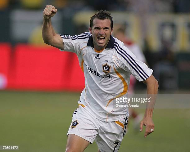 Los Angeles Galaxy's Chris Klein celebrate his goal scored against FC Dallas during today's match at the Home Depot Center on September 23 2007 in...