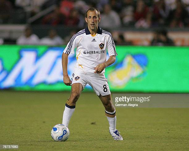 Los Angeles Galaxy's Peter Vagenas in action against Chivas USA defensive line during tonight's match at the Home Depot Center Carson CA September 13...