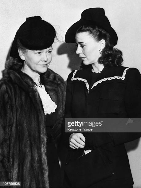 Los Angeles Ginger Rogers And Her Mother Lela Emogene Owens After The Divorce From Lew Ayres 1940