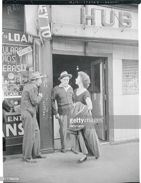Glamour In Skid Row Glamour comes to the pawn shops of Los Angeles' skid row in the person of actress Susan Hayward Crowds line the downtown street...