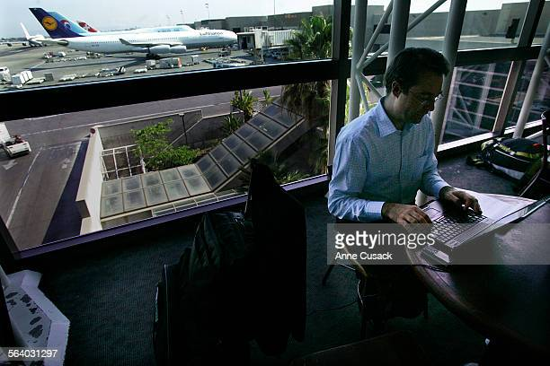 Los Angeles. Gwendal Auffret has not checked onto his Bristish Airways flight in order to keep his lap top. His flight to Heathrow is delayed and...