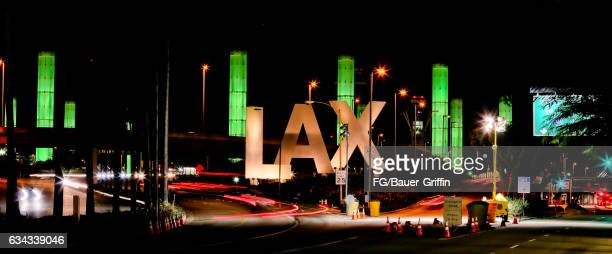Los Angeles International Airport LAX Sign on February 06 2017 in Los Angeles California