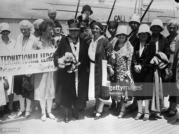 7/30/1928 Los Angeles Jane Addams founder of Hull House and probably America's most famous welfare worker of all times sailed for Hawaii from Los...