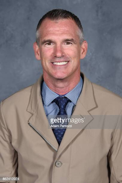 Los Angeles Kings Assistant Coach Pierre Turgeon poses for his official headshot for the 2017-2018 season on August 16, 2017 at the Toyota Sports...