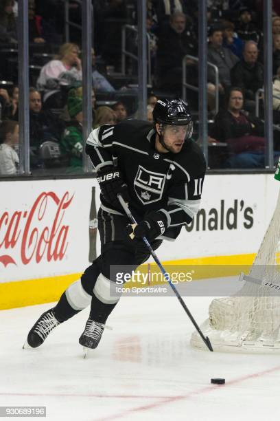 Los Angeles Kings center Anze Kopitar during the NHL regular season game against the St Louis Blues on March 10 at Staples Center in Los Angeles CA