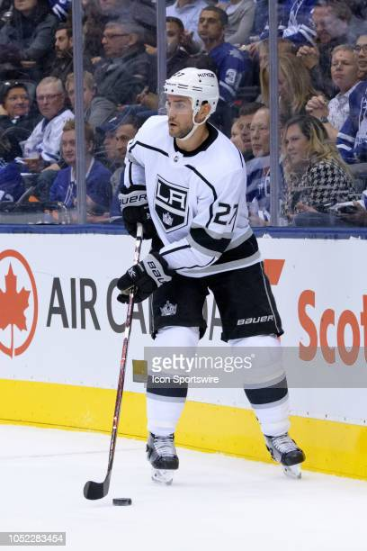 Los Angeles Kings Defenceman Alec Martinez skates with the puck during the NHL regular season game between the Los Angeles Kings and the Toronto...