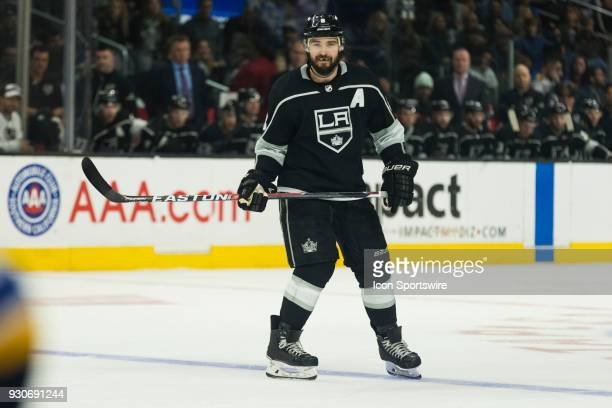 Los Angeles Kings defenseman Drew Doughty during the NHL regular season game against the St Louis Blues on March 10 at Staples Center in Los Angeles...