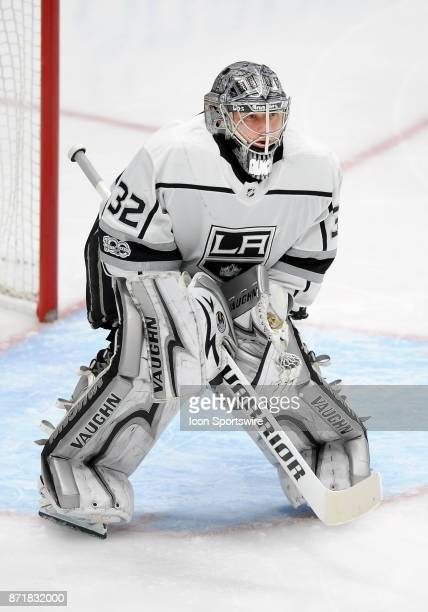 Los Angeles Kings goalie Jonathan Quick in action during the second period of a game against the Anaheim Ducks on November 7 played at the Honda...