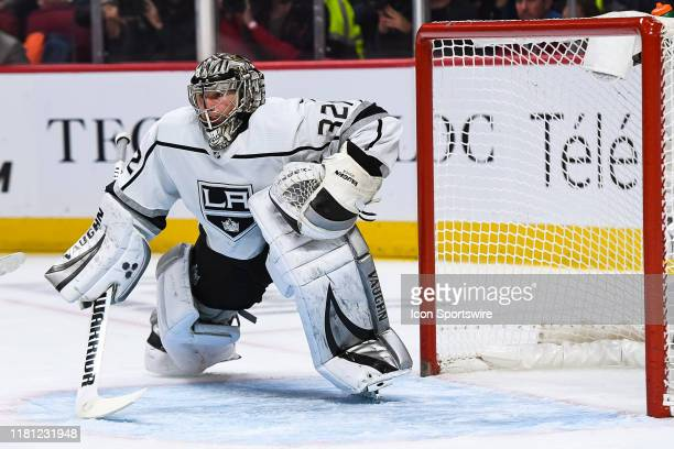 Los Angeles Kings goalie Jonathan Quick tracks the play during the Los Angeles Kings versus the Montreal Canadiens game on November 09 at Bell Centre...