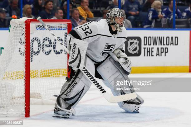 Los Angeles Kings goaltender Jonathan Quick during the NHL game between the Los Angeles Kings and Tampa Bay Lightning on January 14, 2020 at Amalie...