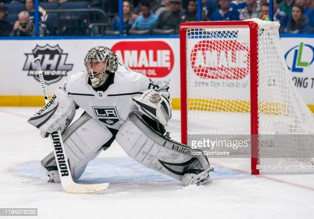 Los Angeles Kings goaltender Jonathan Quick during the NHL Hockey match between the Tampa Bay Lightning and LA Kings on _January 14, 2020 at Amalie...