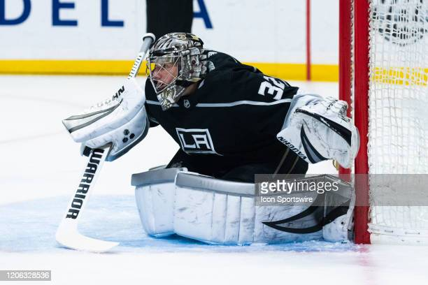Los Angeles Kings goaltender Jonathan Quick during the NHL regular season hockey game against the Colorado Avalanche on Monday, March 9, 2020 at...
