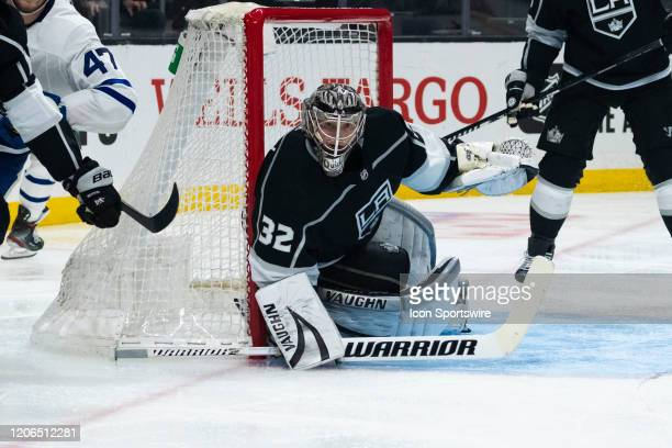 Los Angeles Kings goaltender Jonathan Quick during the NHL regular season hockey game against the Toronto Maple Leafs on Thursday, March 5, 2020 at...