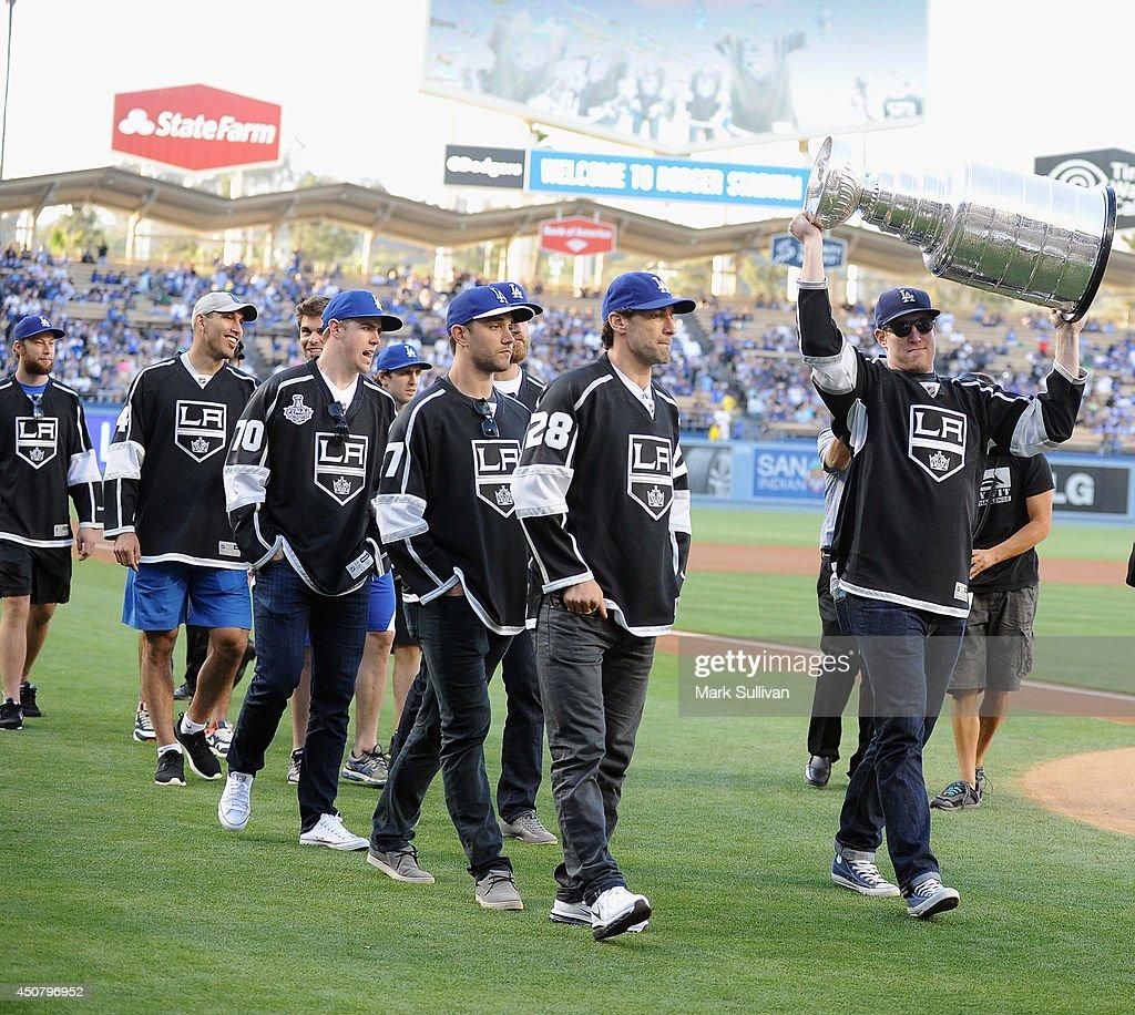 Celebrity Appearances At L.A. Dodgers Game - June 17, 2014