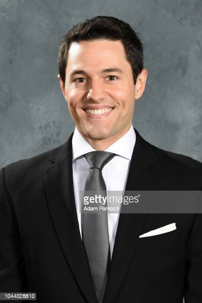 Los Angeles Kings TV PlayByPlay Announcer Alex Faust poses for a headshot for on September 06 2018 at the Toyota Sports Center in El Segundo...