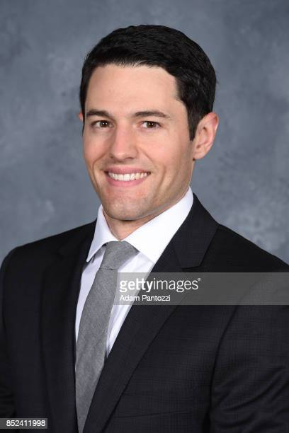Los Angeles Kings TV PlayByPlay announcer Alex Faust poses for a portrait on August 16 2017 at the Toyota Sports Center in El Segundo California