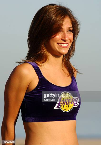 Los Angeles Laker Girls cheelreader Jenna Mannos at the 13th annual Keep LA Running 5 and 10K at Dockweiler Beach in Playa del Rey Calif on Sunday...