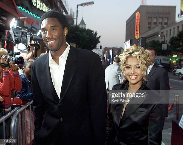 Los Angeles Laker Kobe Bryant and wife Vanessa arrive the Rush Hour 2 Premiere held at the Mann's Chinese Theatre in Hollywood CA Thursday July 26...