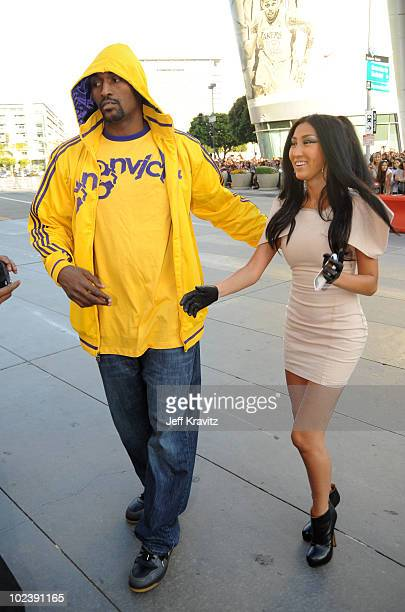 Los Angeles Laker NBA player Ron Artest and guest arrive at the premiere of Summit Entertainment's 'The Twilight Saga Eclipse' during the 2010 Los...