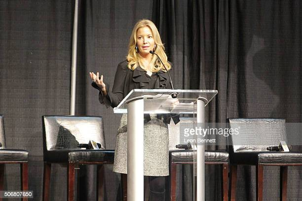 Los Angeles Laker Owner Jeanie Buss attended the 12th Annual Lakers AllAccess at Staples Center on January 25 2016 in Los Angeles California