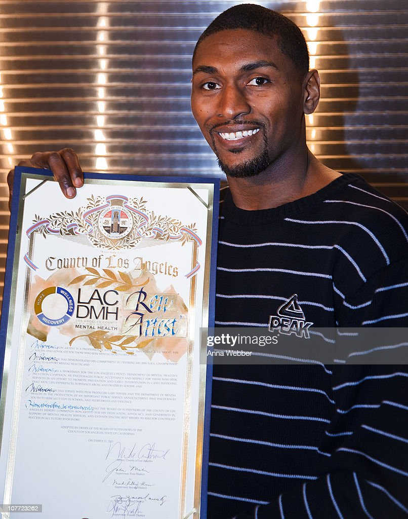 AEG's Season Of Giving Celebrates Mental Health Awareness Night With Ron Artest At L.A. Live