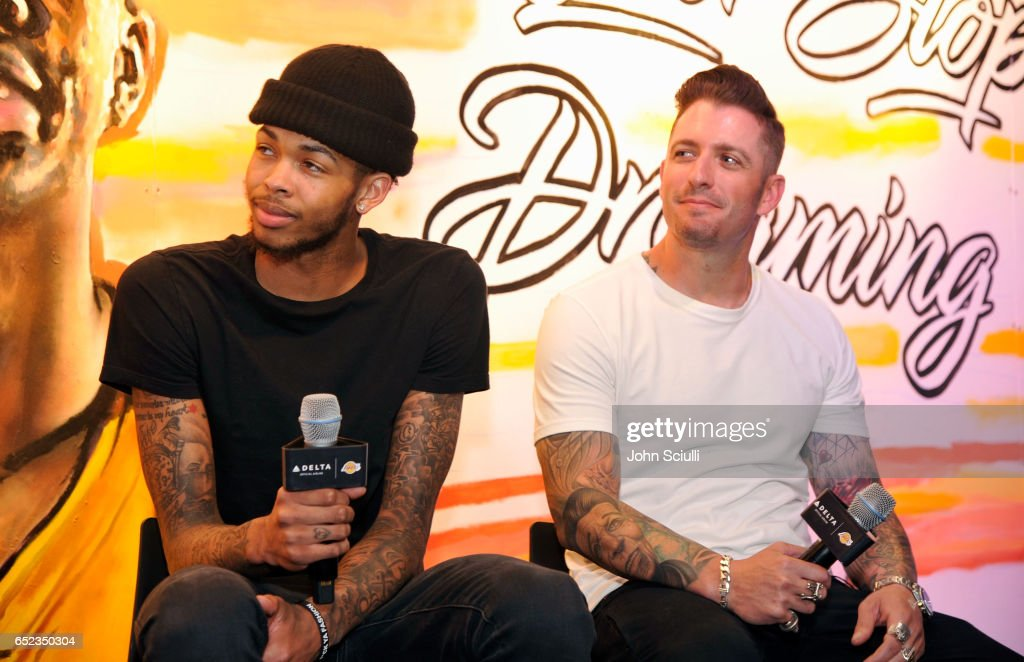 "Los Angeles Lakers' Brandon Ingram Teams Up With Iconic Street Artist Jonas Never To Create Billboard Display With Fans At Delta's First ""Beyond The Court Event"""
