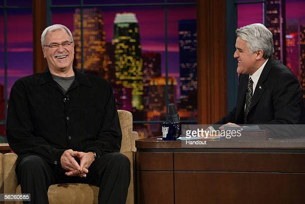 Los Angeles Lakers' coach Phil Jackson talks with Tonight Show host Jay Leno about his relationship with Kobe Bryant their recent conversation...