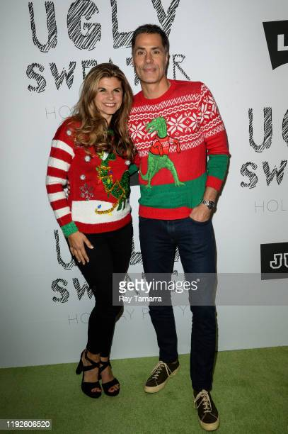 Los Angeles Lakers General Manager Rob Pelinka and Kristin Pelinka attend the 2nd Annual Juglife Ugly Sweater Holiday Party at Levi's Haus on...